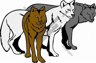 Wolf Wolves Pack Clipart Clip Wolfpack Cartoon