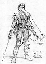 Character Fantasy Bard Warrior Devis Dragons Half Dungeons Characters Todd Dwarf Lockwood Szkice Postaciami Postaci Artysta Inspiracje Drawings Toddlockwood Portraits sketch template