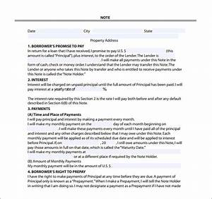 mortgage note templates 6 free word format download With private mortgage document sample