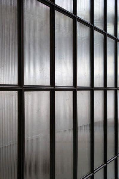 hotel interior design fluted glass black metal frame