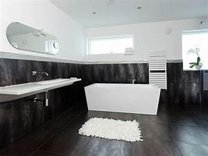 Salle De Bain Noire Et Blanche : salle de bain noir et blanc une pi ce l gante et moderne ~ Melissatoandfro.com Idées de Décoration
