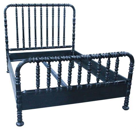 Spindle Bed lind style spindle bed black