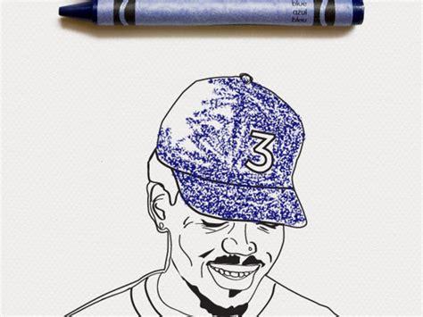 color   chance  rapper coloring book cover art pigeonsandplanes