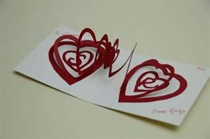 Spiral Heart Pop Up Card Template