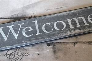 diy distressed wood welcome sign create and babble With letters to make signs