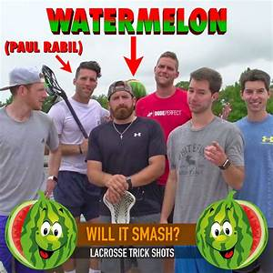 Paul Rabil teams up with Dude Perfect for lacrosse trick shots