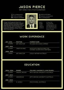 free black elegant resume cv design template for art With cv template design
