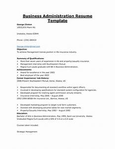 business administration resume objective resume ideas With business administration resume sample