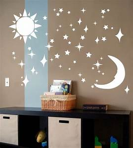 sun moon stars vinyl wall art decal sticker by decal farm With kitchen cabinets lowes with sun moon and stars wall art