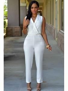 Look Chic Femme : combinaison pantalon blanc chic vetement femme ~ Melissatoandfro.com Idées de Décoration