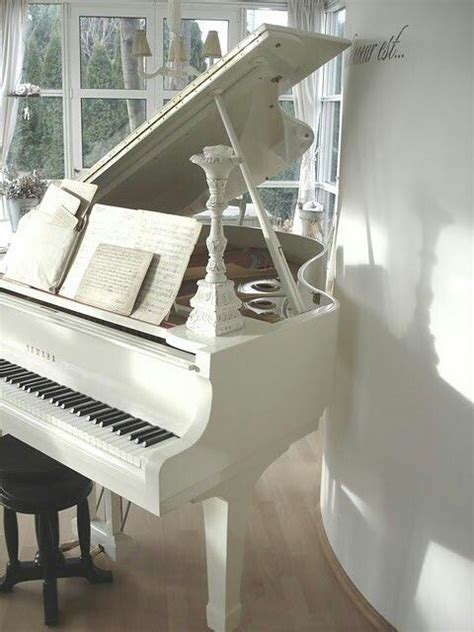 pin  carley clements  pianos   white piano