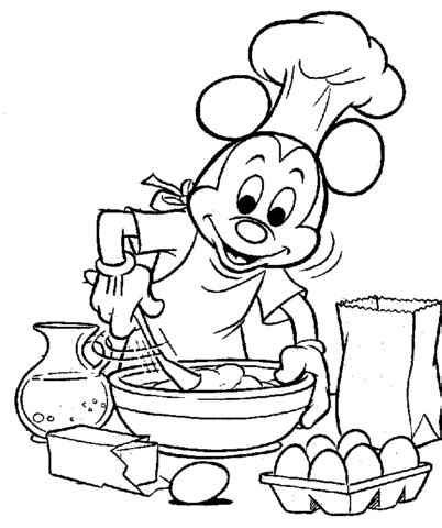 kitchen coloring page coloriage mickey qui cuisine coloriages 224 imprimer 3384