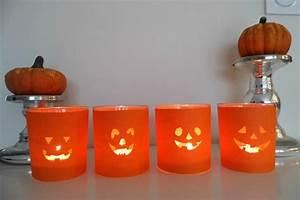 Idée Bricolage Déco : id e de d co pour halloween des photophores citrouilles ~ Premium-room.com Idées de Décoration