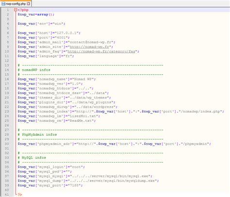 Modifier La Configuration De Nomad Wp Client