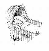 Crib Sleeping Drawing Sketch Cot Digital Drawings Stamp Coloring Babies Stamps Cribs Bear Digi Face Sketches Teddy Adorable Smile sketch template
