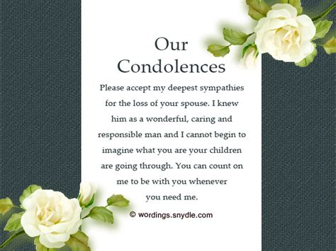 Sympathy Messages for Loss of Husband – Wordings and Messages