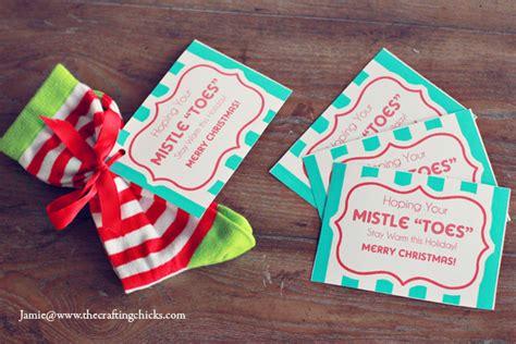 mistle toes christmas socks gift tag  printable