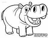 Hippo Coloring Pages Hippopotamus Cartoon Drawing Cool2bkids Printable Cute Baby Animal Hippos Print Printables Clip Clipart Drawings Animals Face Draw sketch template