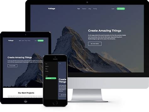Voltage Is A Free Html5 Template That Has A Feature Of
