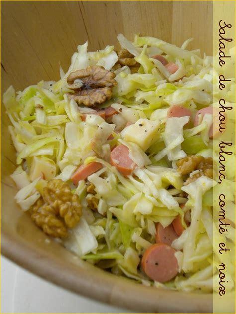cuisiner le chou blanc en salade salade de chou blanc comté et noix le de mélissa