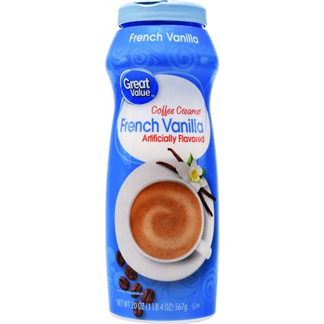 40% fat, 60% carbs, 0% protein. Great Value Coffee Creamer, French Vanilla, 20 oz - Walmart.com - Walmart.com
