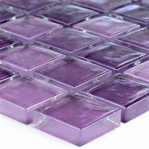 Mosaic, Tiles, Glass, Purple, Mix