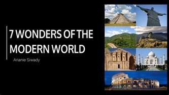 7 wonders of the modern world