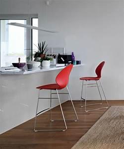 Chaise De Bar Rouge : la chaise de bar rouge mod les chic et attirants ~ Teatrodelosmanantiales.com Idées de Décoration