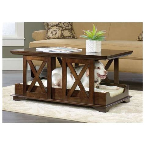 coffee table dog bed sauder furniture birch full coffee table pet dog bed