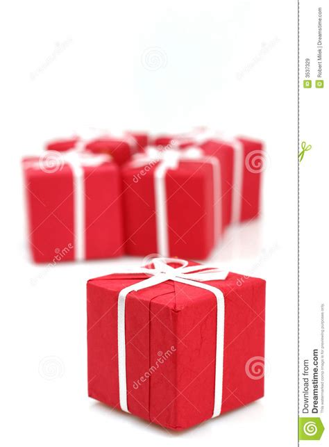 packages of christmas gifts royalty free stock images