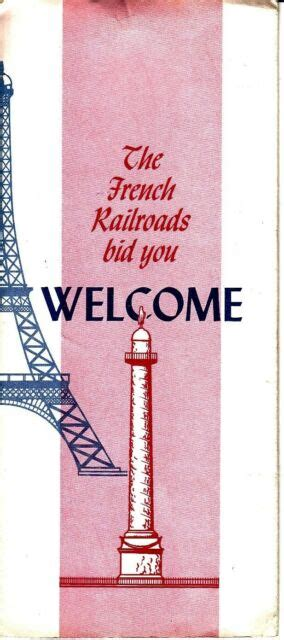The French Railroads Bid You Welcome France Vintage ...