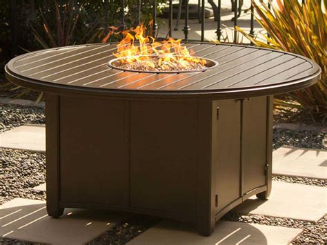 Fire glass is able to replace unsightly items in a fire pit or fireplace. Tropitone Banchetto Aluminum 42 Round Fire Pit Table ...