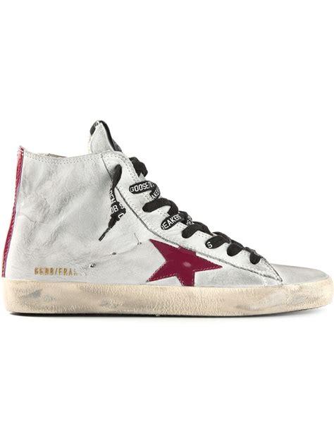 Golden Goose Deluxe Brand 'fancy' Hitop Sneakers In Gray