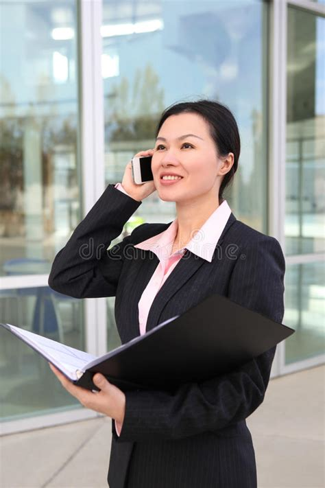 pretty chinese business woman stock image image