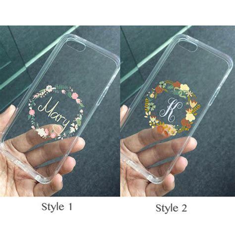 customize iphone 5s transparent clear flower wreath floral for 13924