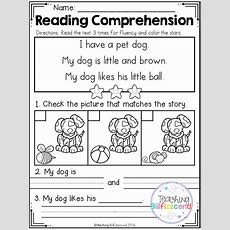 Free Kindergarten Reading Comprehension (set 2)  Kindergartenklubcom  Kindergarten Reading