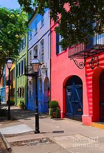 Rainbow Row Charleston Photograph by Skip Willits