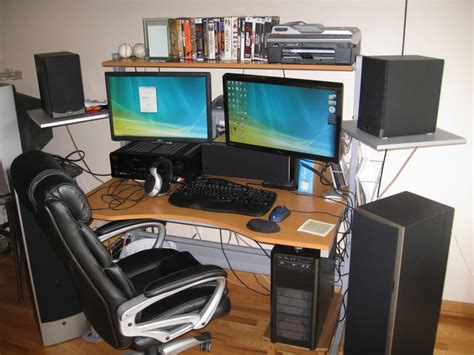 pc bureau gaming best multi monitor computer desk 17 remarkable multi