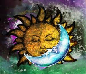 Sun Kissing Moon Tattoo