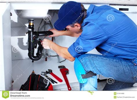 professional plumber royalty  stock images image