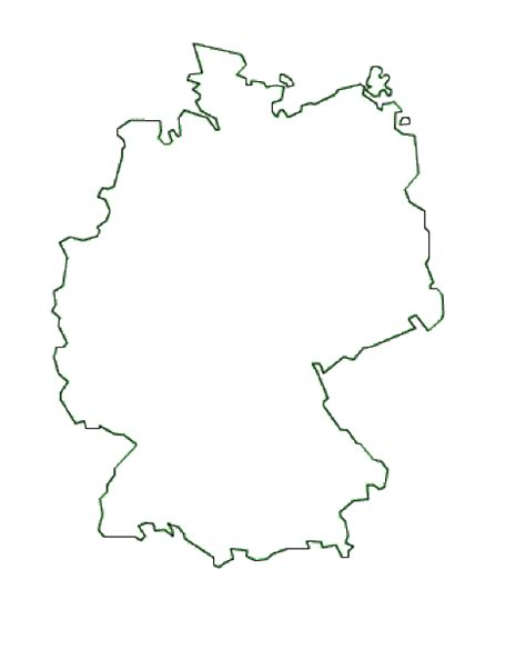 A blank outline map of germany (creative commons: Map of Germany. Terrain, area and outline maps of Germany ...