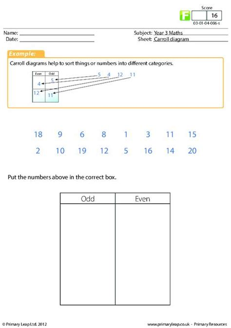 carroll diagram and even primaryleap co uk