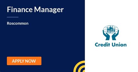 Finance Manager   Credit Union   Roscommon - 5th August ...