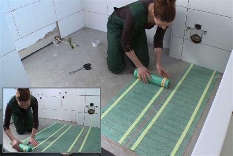 vloerverwarming badkamer quickheat quickheat floor basic elektrische vloerverwarming