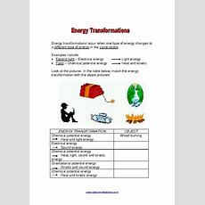 Energy Conversion Worksheets 6th Grade  Education  Worksheets, Science, Education