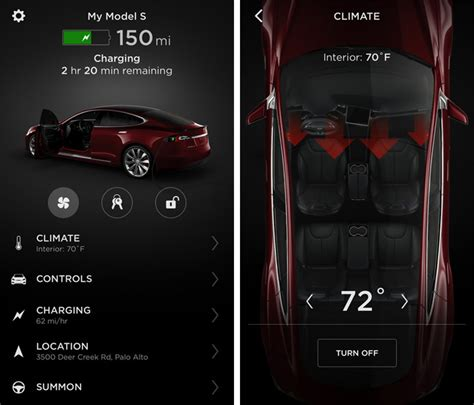 Tesla Car Apps tesla releases completely redesigned iphone app with touch