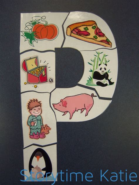 letter p preschool crafts flannel friday complete letter puzzles storytime 618