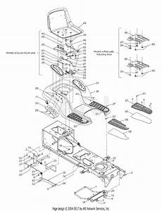 Mtd 13aq608h129  2003  Parts Diagram For Frame Components