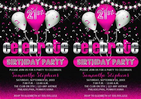 FREE 16+ Cool 21st Birthday Invitation Designs & Examples