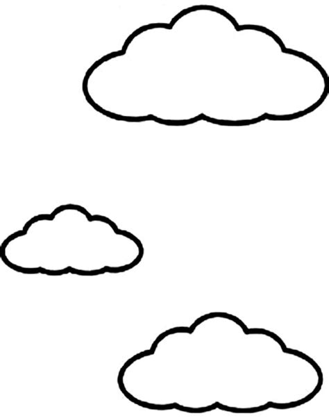 kids drawing  clouds coloring page netart
